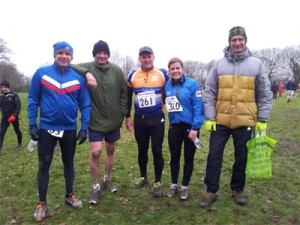 The LBTF runners, Paddy, Dave Kev, Tash and Paul
