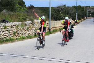David winning GC in Malta